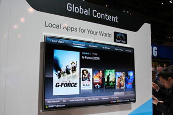 Samsung Smart TV Hub Review   Samsung Internet TV Apps